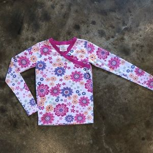 Hannah Andersson 140 or 10 Pajama Top Floral Large